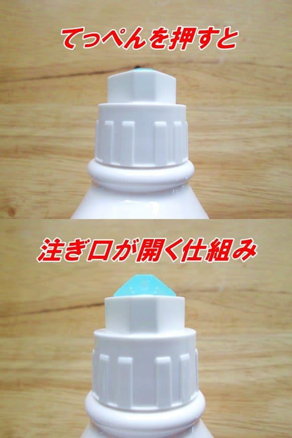 ガム歯周プロケアデンタルリンスの注ぎ口の開け方